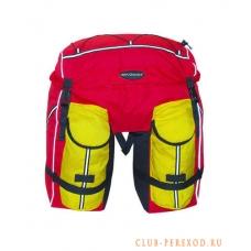 Велорюкзак Терра 50л красно-желтый на багажник